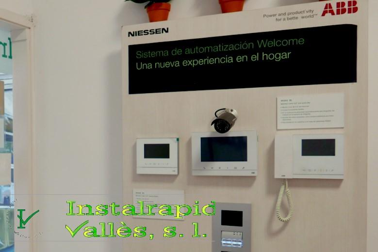 Instalrapid Vallès S.L.Mollet del Vallès, Barcelona, vídeo porteros digitales ABB Niessen, instalaciones profesionales en Barcelona